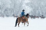 Wrangler in the Snow Photographic Print by Carol Walker