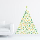 Christmas Stars - 240 Pieces Wall Decal