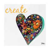 Expressive Heart I Premium Giclee Print by Patricia Pinto