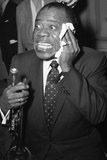 Louis Armstrong Performing in London, 1956 Photographic Print by  Staff