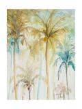 Watercolor Palms in Blue II Giclee-tryk i høj kvalitet af Patrcia Pinto