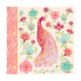 Pink Medallion Peacock I Posters by Janice Gaynor