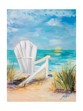 Relax in the Beach Breeze Premium Giclee Print by Julie DeRice