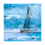 Coastal Boats in Watercolor I Print by Lanie Loreth