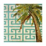 Beach Palm Turquoise Pattern II Premium Giclee Print by Patricia Quintero-Pinto