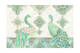 Emerald Peacock Rectangle Posters by Janice Gaynor
