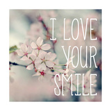 I Love Your Smile Premium Giclee Print by Sarah Gardner