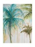 Watercolor Palms in Blue I Giclee-tryk i høj kvalitet af Patrcia Pinto