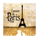 L'amour de Paris Gold Posters by Dan Meneely
