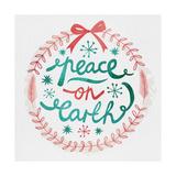 White Christmas Wreath III Premium Giclee Print by  A Fresh Bunch