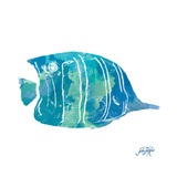 Watercolor Fish in Teal III Premium Giclee Print by Julie DeRice