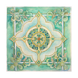 French Medallion IV Premium Giclee Print by Janice Gaynor