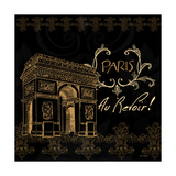 Elegant Paris Gold Square IV Premium Giclee Print by Linda Baliko