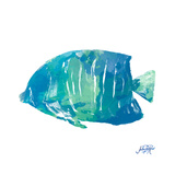 Watercolor Fish in Teal IV Reproduction giclée Premium par Julie DeRice