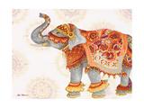 Pink Elephant II Print by Janice Gaynor