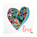 Hearts of Love and Hope II Premium Giclee Print by Patricia Quintero-Pinto
