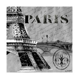 Parisian Wall Black III Posters by Janice Gaynor