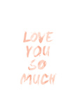 Love I Premium Giclee Print by  SD Graphics Studio