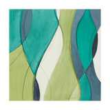 Coastal Greens Coalescence II Premium Giclee Print by Lanie Loreth