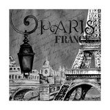 Parisian Wall Black I Posters by Janice Gaynor