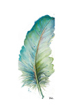 Watercolor Feather White IV Poster von Patricia Pinto