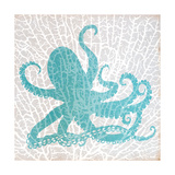 Sealife on Coral V Premium Giclee Print by Julie DeRice