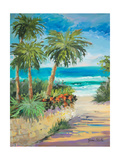 Palm Path Premium Giclee Print by Jane Slivka