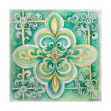French Medallion III Premium Giclee Print by Janice Gaynor