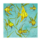 School of Fish IV Premium Giclee Print by Gina Ritter