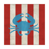 Primary Striped Coastal I Posters by  A Fresh Bunch