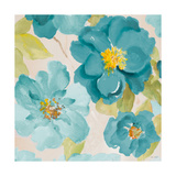 Teal Floral Delicate I Premium Giclee Print by Lanie Loreth