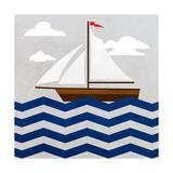 Chevron Sailing II Prints by  SD Graphics Studio