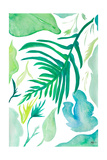 Green Water Leaves I Premium Giclee Print by Kat Papa