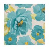 Teal Floral Delicate II Premium Giclee Print by Lanie Loreth