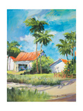 House on the Beach Premium Giclee Print by Jane Slivka