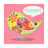 Bird Floral Pattern I Prints by  SD Graphics Studio