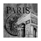 Parisian Wall Black IV Prints by Janice Gaynor