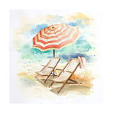 Umbrella on the Beach I Premium Giclee Print by Patricia Pinto