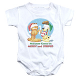 Infant: Garfield- Merry And Striped Onesie Infant Onesie