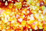 Festive Background with Natural Bokeh and Bright Golden Lights. Vintage Magic Background with Color Photographic Print by  Maximusnd
