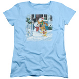 Womans: Garfield- Snow Fun T-shirts