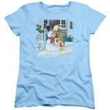 Womens: Garfield- Snow Fun T-shirts