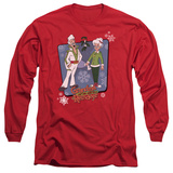 Long Sleeve: Granma Got Run Over By A Reindeer- Super Stars T-shirts