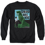 Crewneck Sweatshirt: Edward Scissorhands- Edward Was Here T-shirts