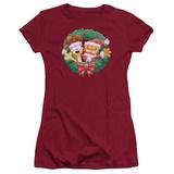 Juniors: Garfield- Christmas Wreath T-shirts
