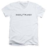 Superman- Daily Planet Logo V-Neck T-shirts