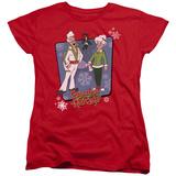 Womans: Granma Got Run Over By A Reindeer- Super Stars T-shirts