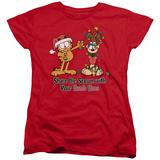 Womans: Garfield- Share The Season T-Shirt