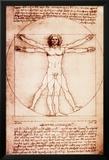 Vitruvian Man Prints by  Leonardo da Vinci