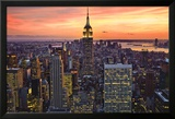 New York City (Empire State Building, Sunset) Art Poster Print Posters